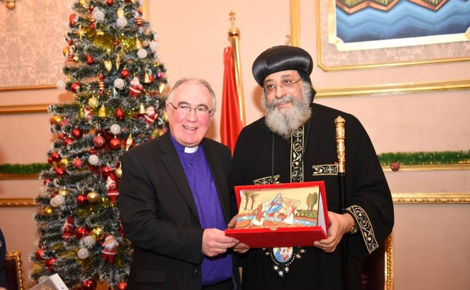 Very Rev Dr Angus Morrison with HH Pope Tawadros II