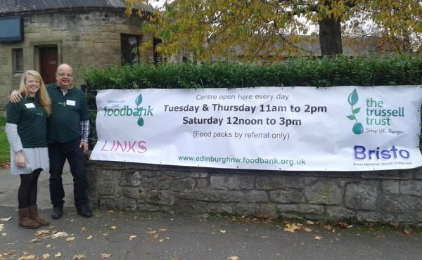 Edinburgh East Foodbank banner