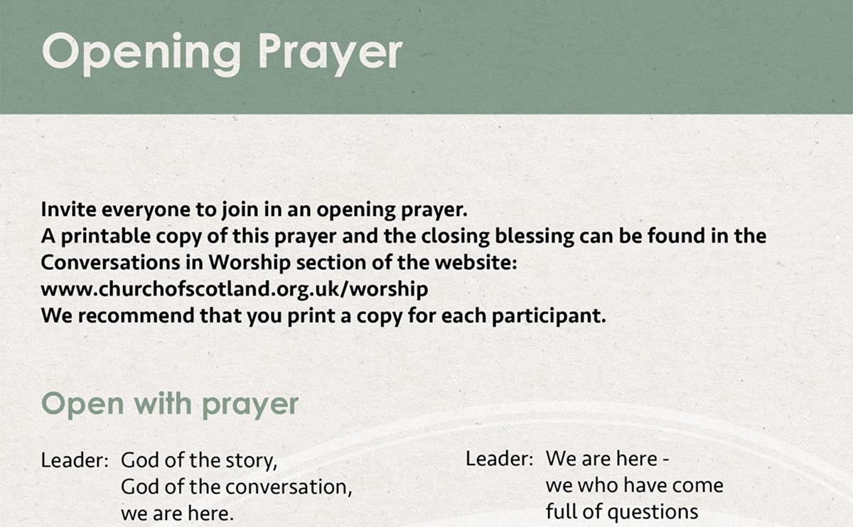 Prayer for participants
