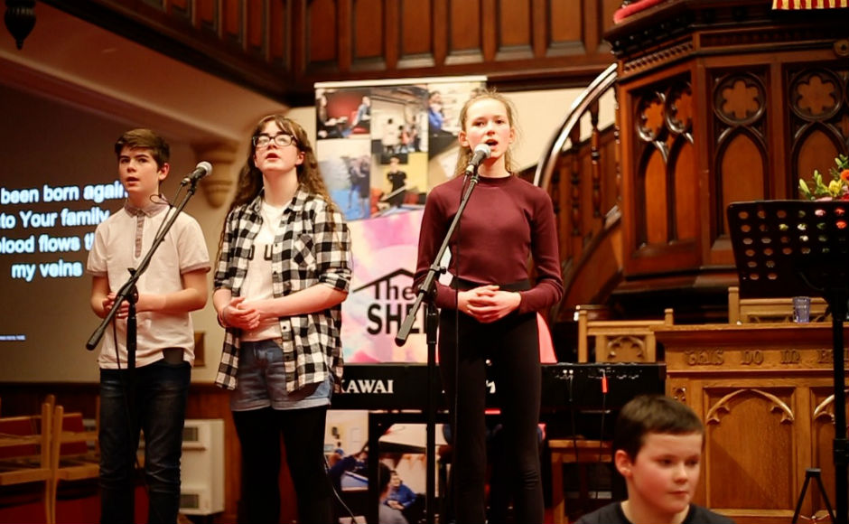 Young people at Martin's Memorial Church Stornoway