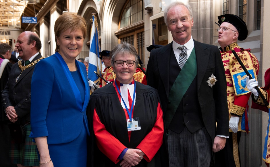 Susan with Lord High Commissioner and First minister Nicola Sturgeon