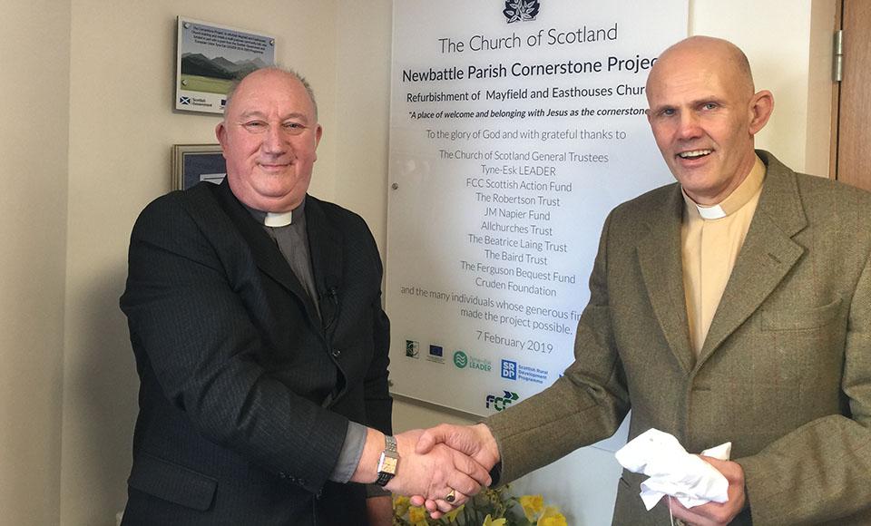Associate Minister, Rev Malcolm Muir and Rev Sean Swindells