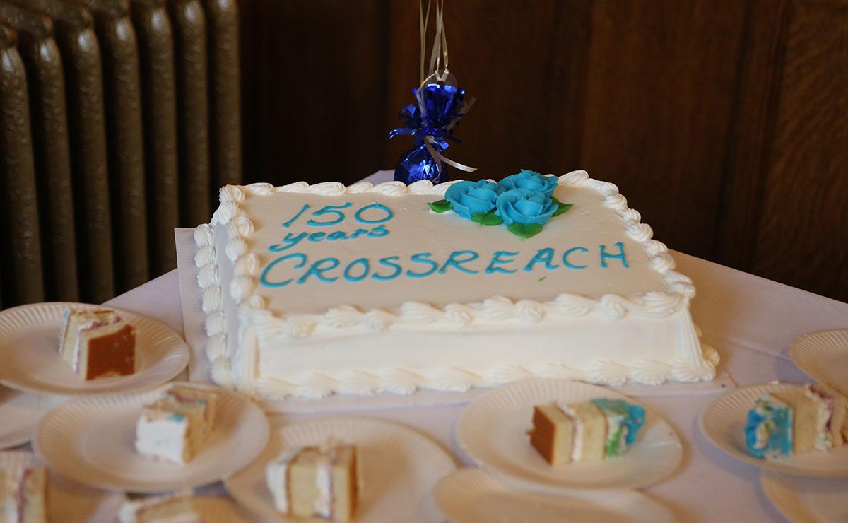 CrossReach's 150th birthday cake