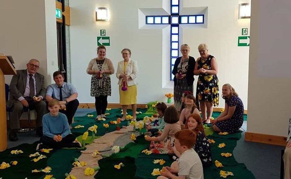 The knit and natter group made daffodils for Easter