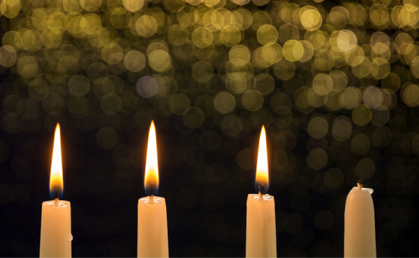 Third Sunday of Advent candles