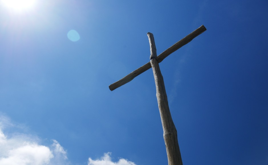A cross in the sunshine