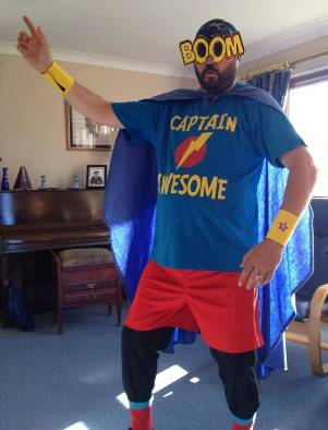 Rev Marc Bircham as Captain Awesome