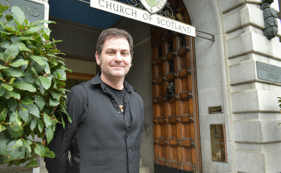 Rev Dr John McCulloch outside the church of Scotland offices
