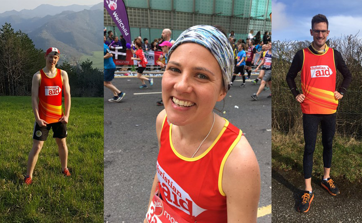 Team mates Fiona Buchanan, Calum Scott and Robin Downie