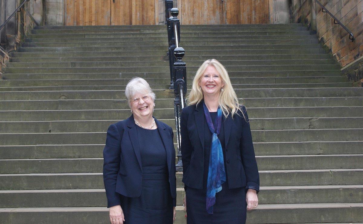Rev Professor Susan Hardman Moore (left) and Professor Helen Bond