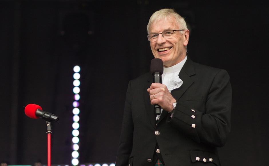 Rt Rev Colin Sinclair speaking in Trafalgar Square