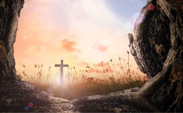 Easter Sunday empty tomb