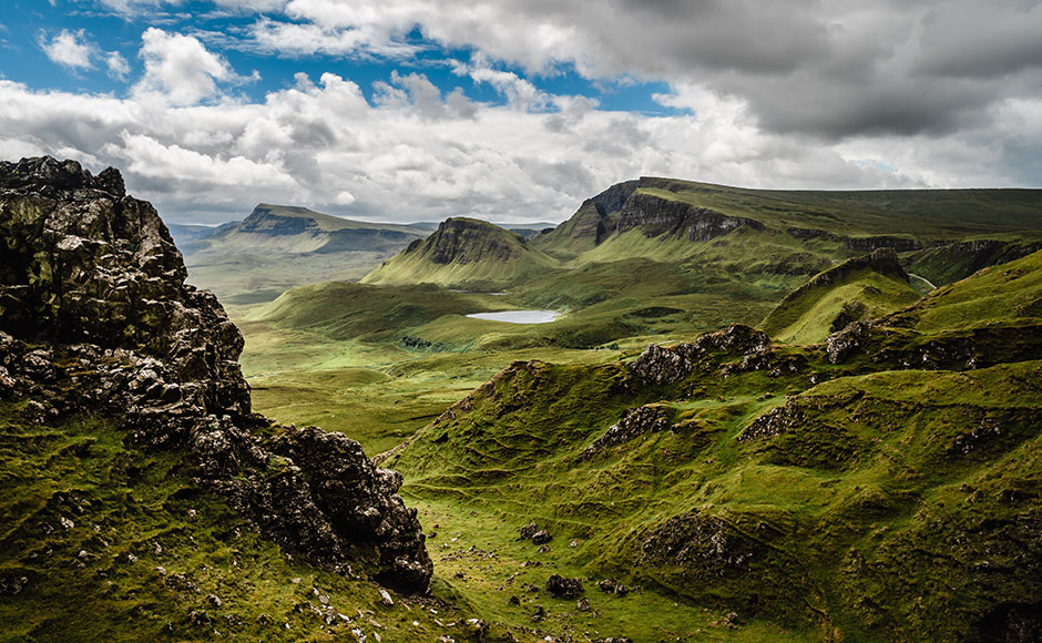 Scottish valley and mountains