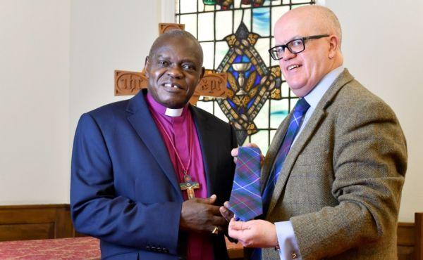 Rev Dr John McPake and the Archbishop of York