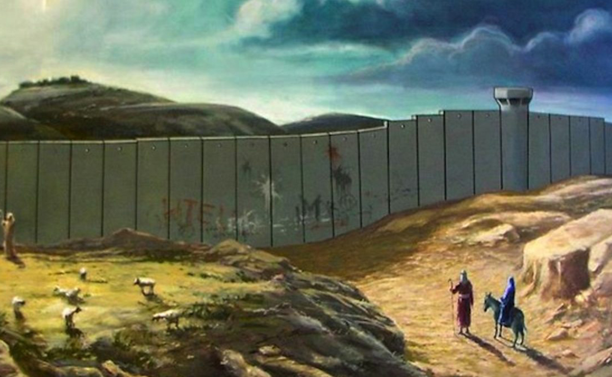 Banksy's 2005 'Christmas card' painting