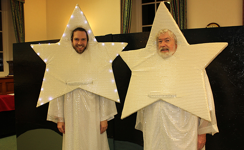 The two stars who learn about the story of the Nativity