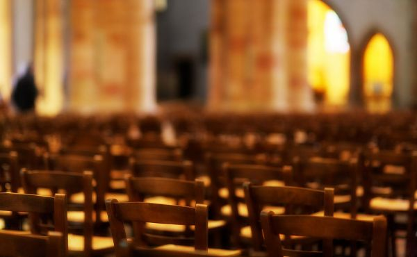 Chairs in an empty church