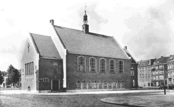 The newly re-built church taken in 1952