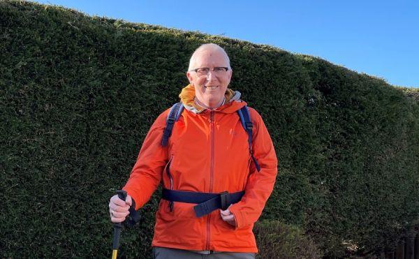 Rev Dr Martin Fair will walk around 15 miles a day