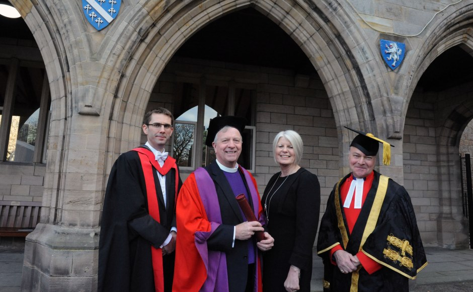 Very Rev Dr John Chalmers with Torrance and wife Liz