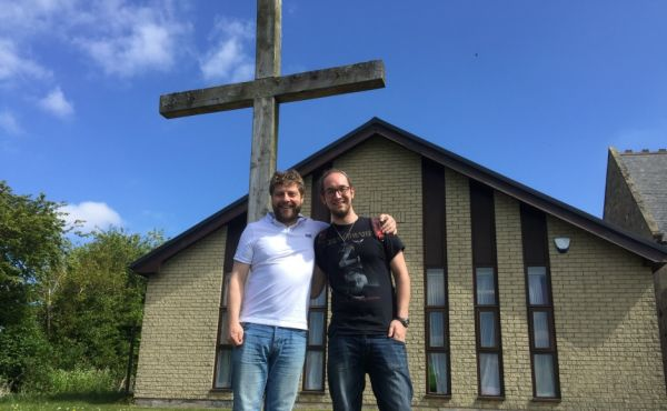 Rev Mark Nicholas with Ross Watters
