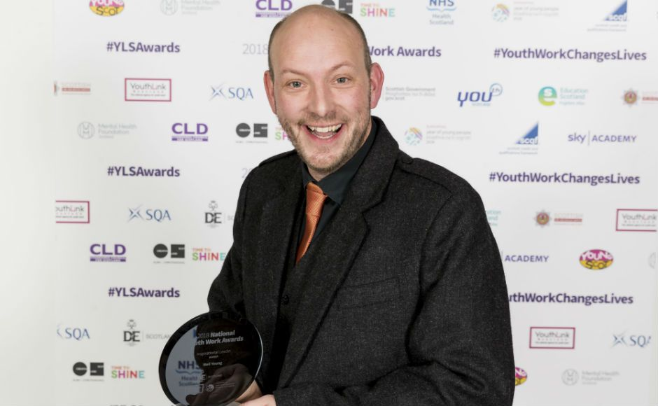 Neil Young, winner of the Inspirational leader award