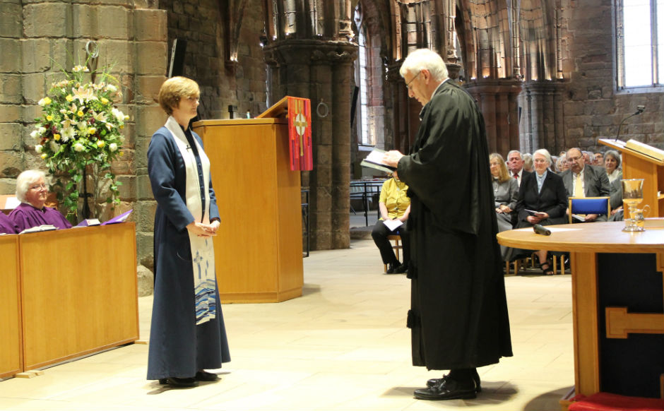 The Moderator, Rt Rev Colin Sinclair, gave the pastoral charge to the congregation at the induction of Rev Alison McDonald to St Mary's