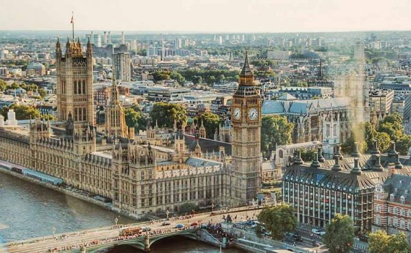 Houses of Parliament aerial view