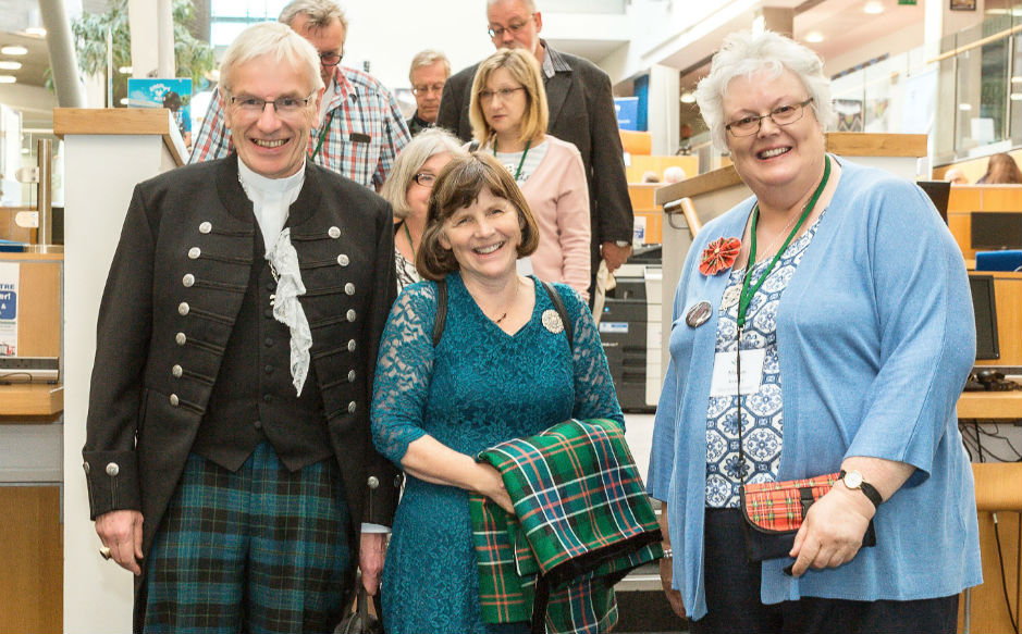 Rt Rev Colin Sinclair, Mrs Ruth Sinclair and  Scottish Diaconate President