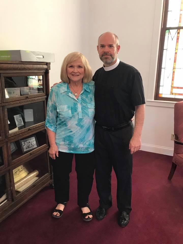 Rev Wes Brandon with his mum Phyllis