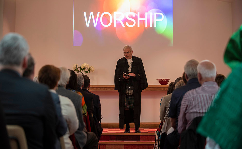 Rt Rev Colin Sinclair, pictured during the recent opening of the new St Rollox Church building in Glasgow