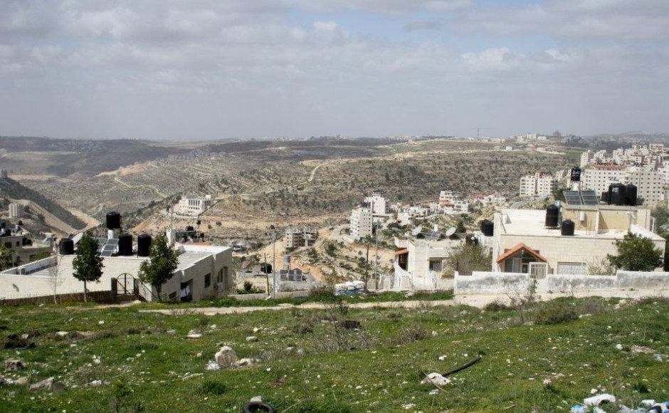 View of the Judean Hills from Ramallah by Anthony Baratier