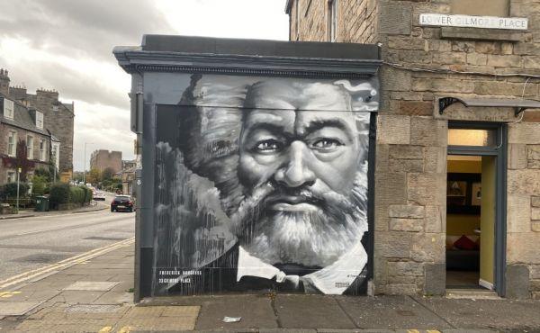 Frederick Douglass mural in Edinburgh