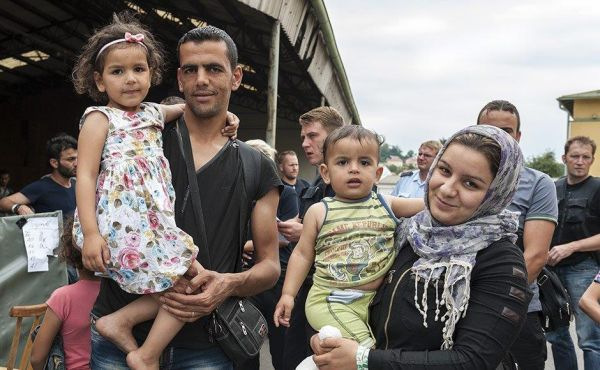 Refugee family