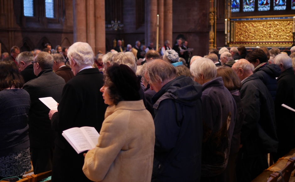 The Advent service at Carlisle Cathedral