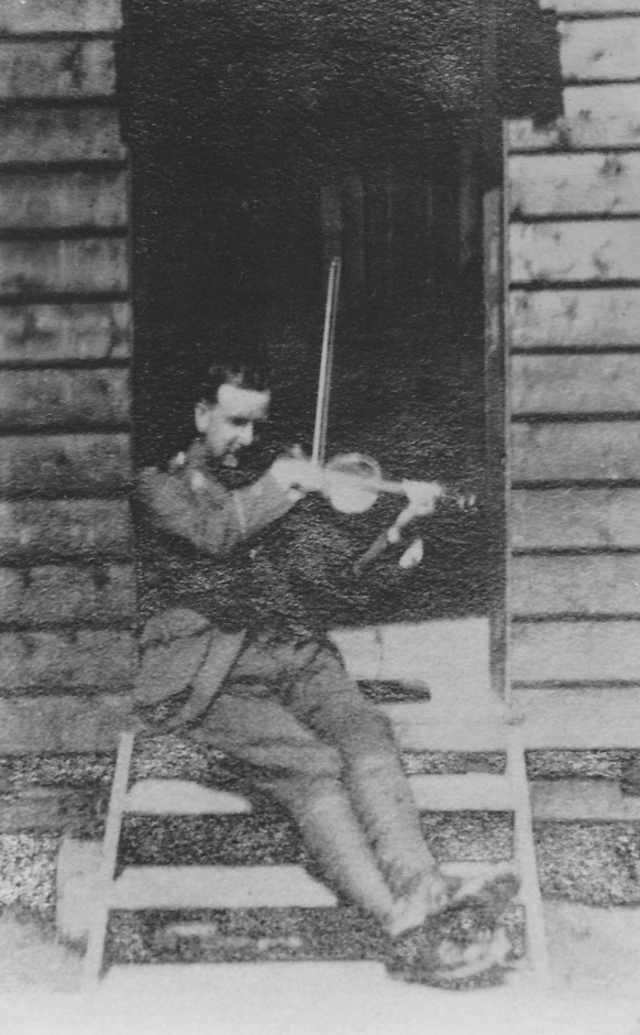 Archie Morrison with his violin