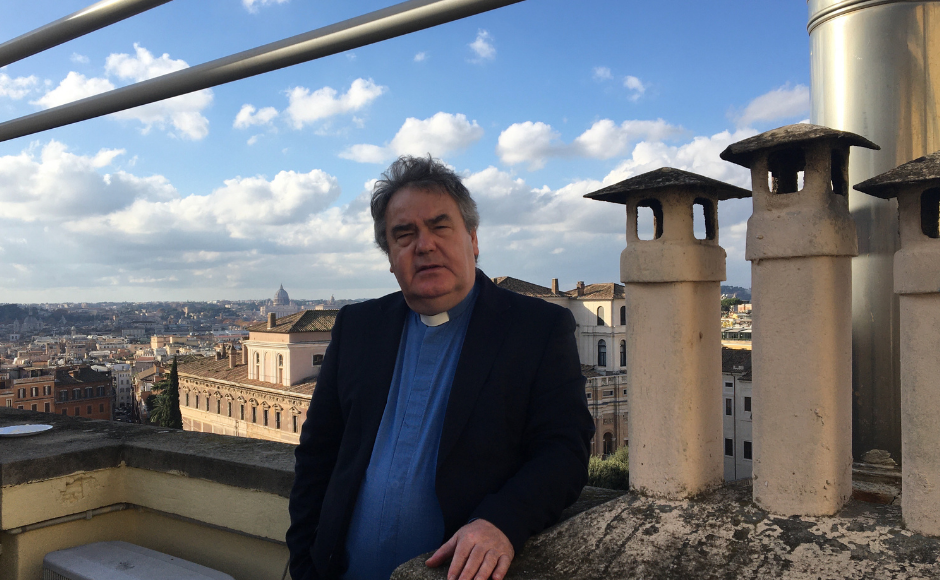 Rev Dr Peter McEnhill at his previous church in Rome