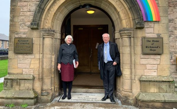 Rev Liz Henderson, co-founder of Richmond's Hope with Lord Wallace, the Moderator of the General Assembly of the Church of Scotland