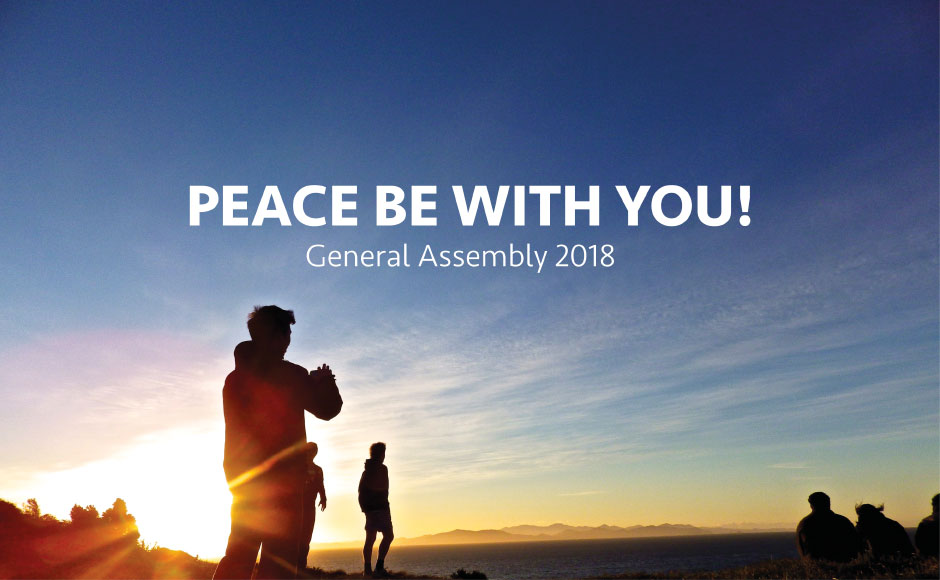 Blue Book Cover: Peace be with you!