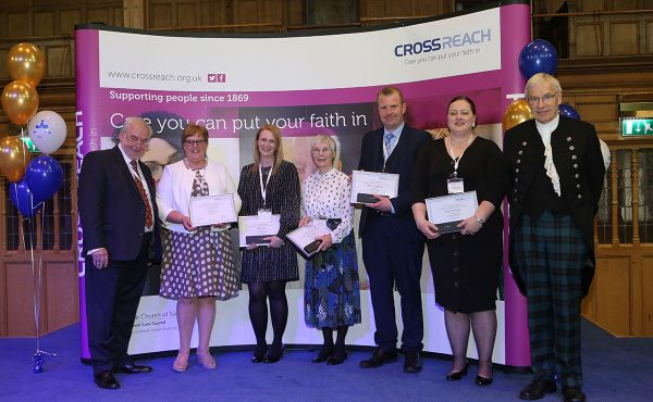 Long service certificate winners with Right Rev Colin Sinclair