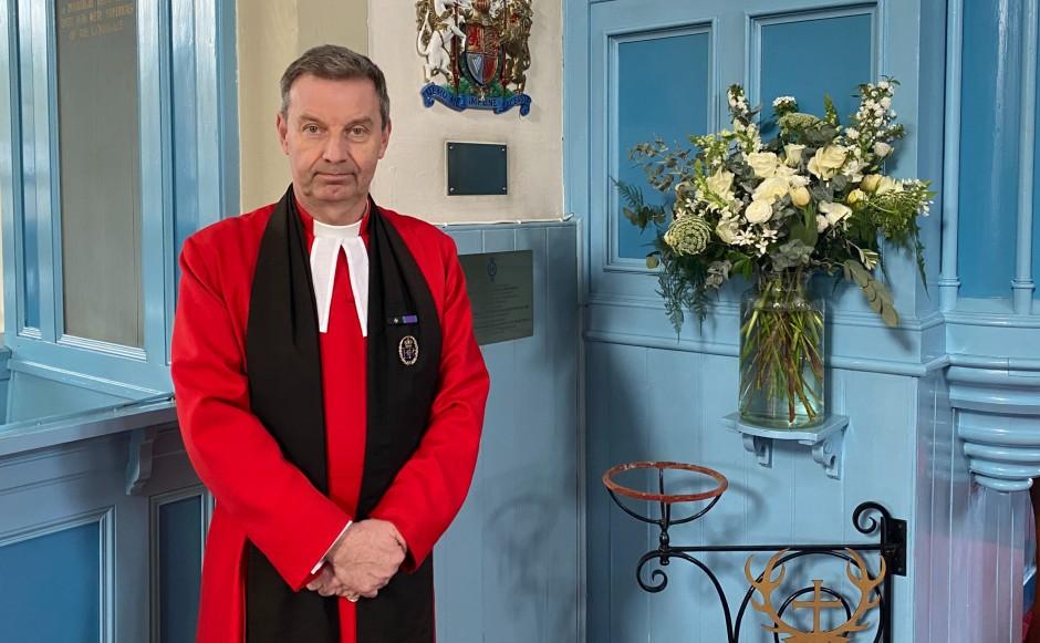 Rev Neil Gardner of Canongate Kirk in Edinburgh