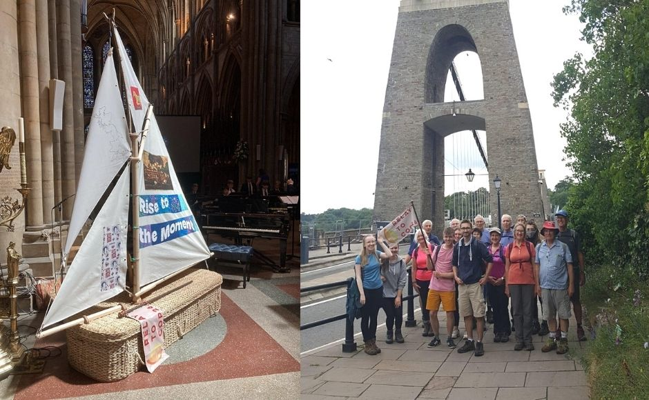 A group of young Christians set off on their climate change relay