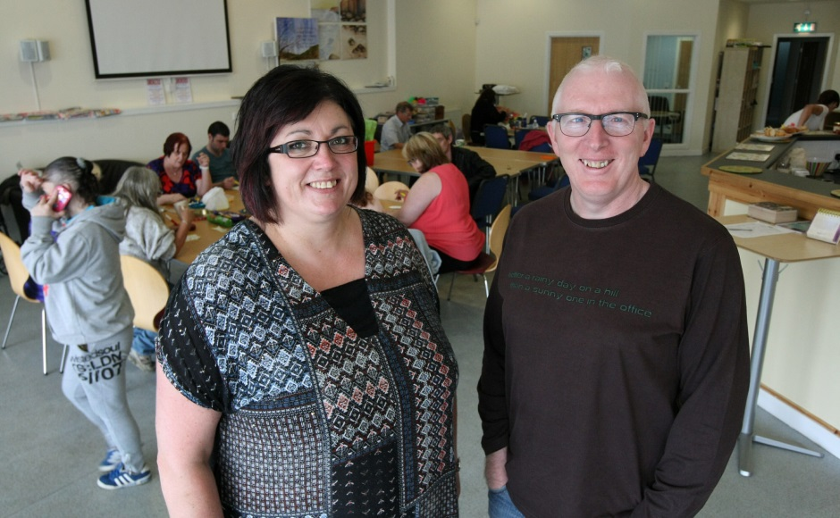 Rev Martin Fair (right) with volunteer Tracey McLeod