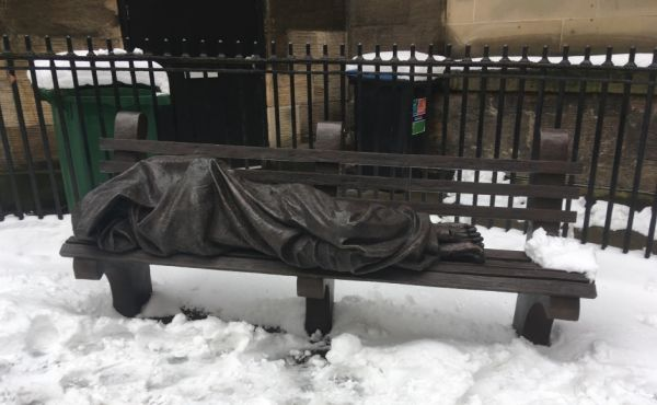 Homeless Jesus installation