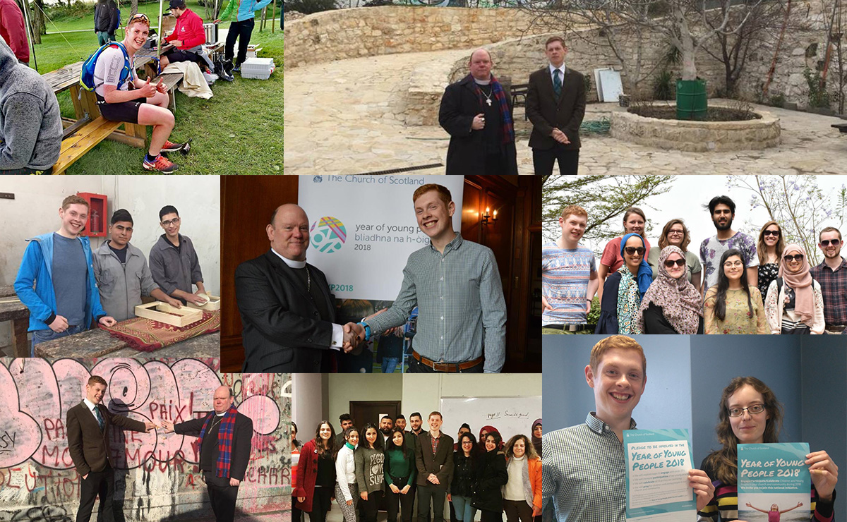 A photo collage of some of Robin Downie's experiences whilst NYA Moderator