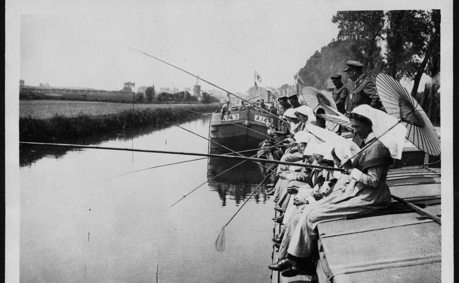 Sisters fishing