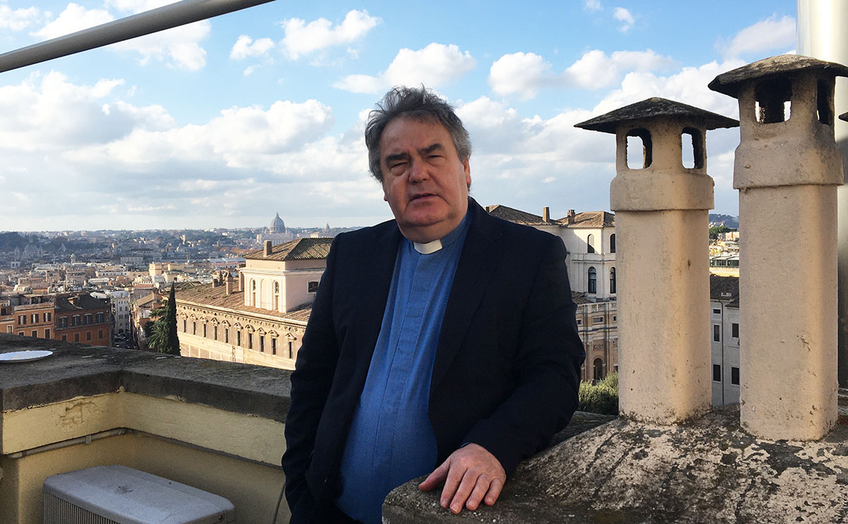 Rev Dr Peter McEnhill on the rooftops of Rome