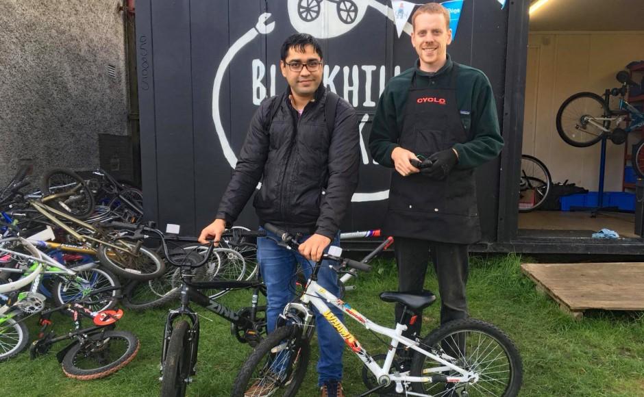 Blackhill on bikes