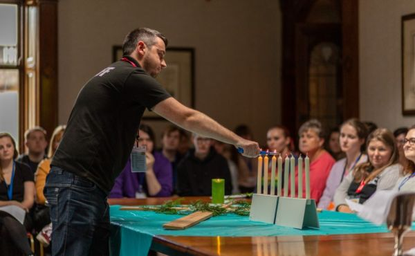 Youth worker Darren Philip at a church even before the pandemic