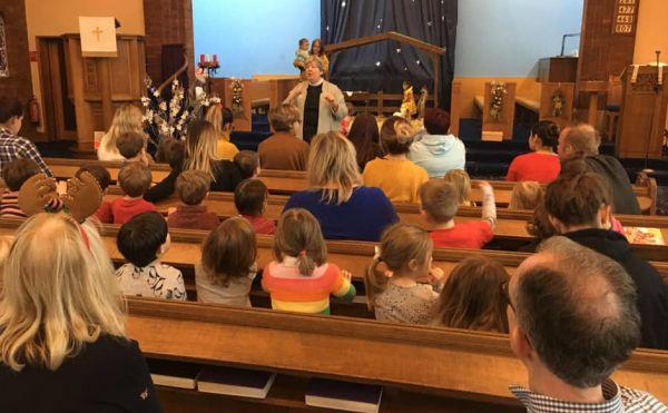 Around 400 local children took part